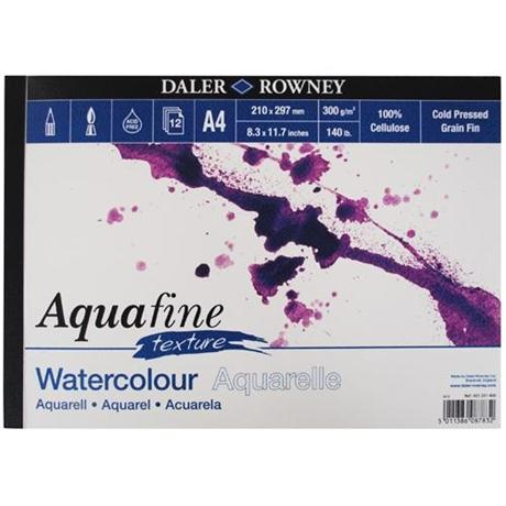 Daler Rowney Aquafine Watercolour Pad Textured Surface 300gsm Image 1