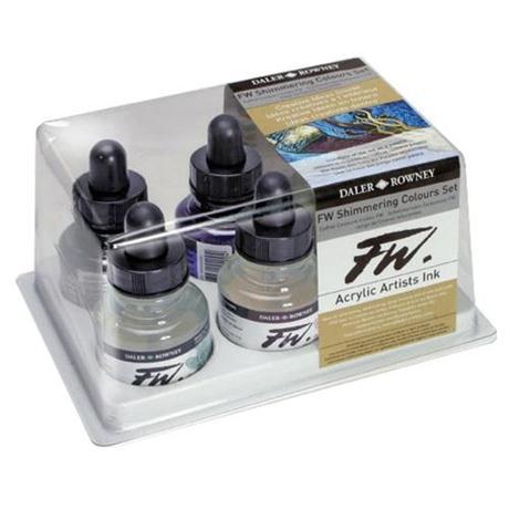 Daler Rowney FW Ink Shimmering Colours 6 Set Image 1