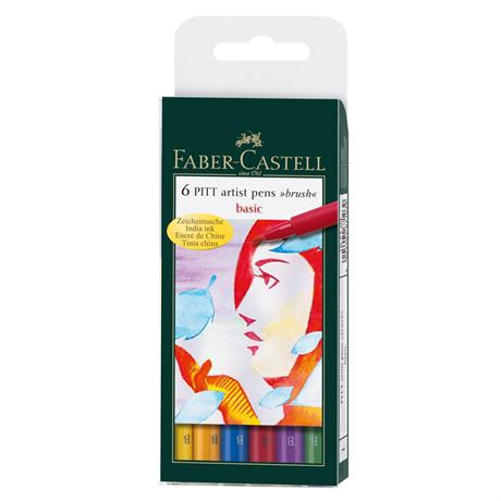 Pitt Artists' Brush Pen Wallet - Basic Colours Image 1