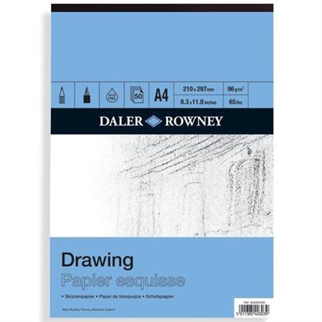 Daler Rowney Smooth Drawing Pads 96gsm Image 1