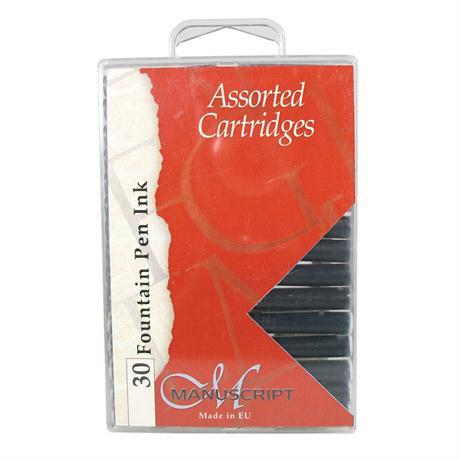 Manuscript Assorted Ink Cartridges Pack Of 30 Image 1