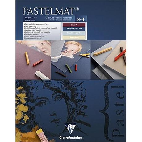 Clairefontaine Pastelmat Pad - Light Blue, Dark Blue, Sand, Lie De Vin Image 1