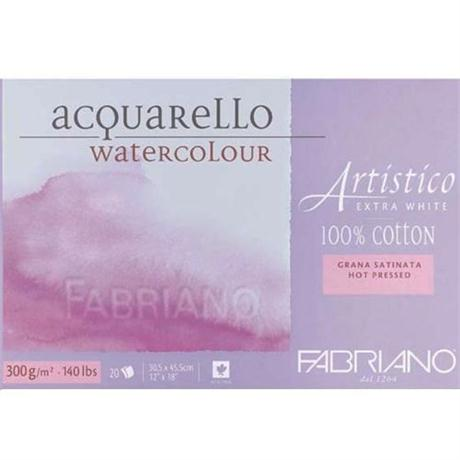 Fabriano Artistico Water Colour Blocks Extra White 140lbs 'HP' Image 1