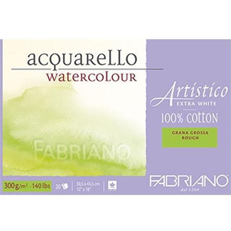 Fabriano Artistico Water Colour Blocks Extra White 140lbs 'Rough' Image 1