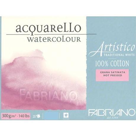 Fabriano Artistico Water Colour Block Traditional White 140lbs 'HP' Image 1