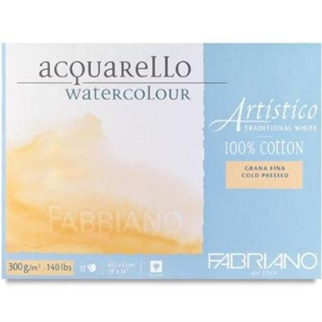 Fabriano Artistico Water Colour Block Traditional White 140lbs 'NOT' Image 1