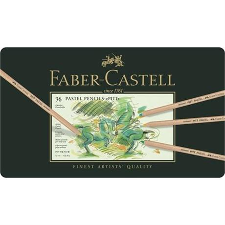 Faber Castell Pitt Pastel Pencil Tin of 36 Image 1