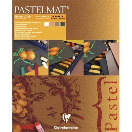Clairefontaine Pastelmat Pad - White, Sienna, Brown, Anthracite Image 1