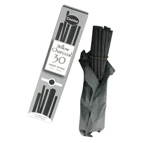 Coates Willow Charcoal Assorted Half Sticks Image 1