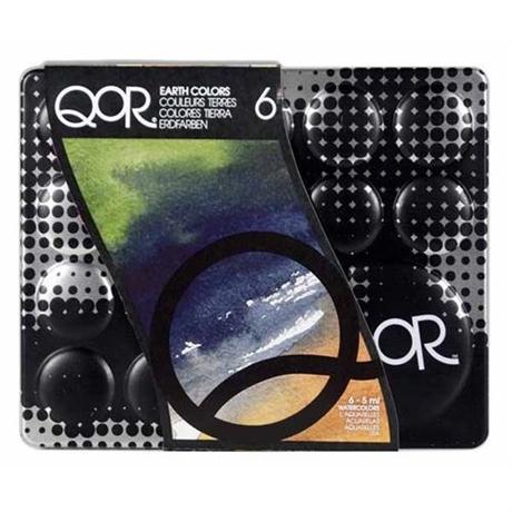 QoR Watercolour 6 x 5ml Earth Set Image 1