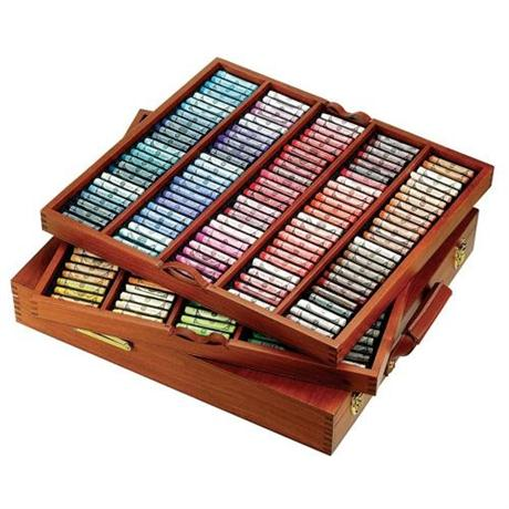 Sennelier Soft Pastel Wooden Box 250 Royal Image 1