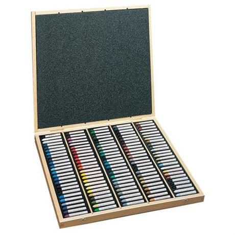 Sennelier Oil Pastels Wooden Box of 120 Assorted Colours Image 1