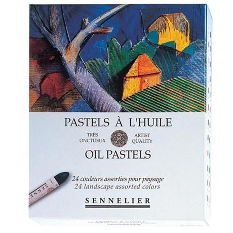 Sennelier Oil Pastels 24 Landscape Assorted Colours Image 1