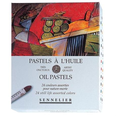 Sennelier Oil Pastels 24 Still Life Assorted Colours Image 1