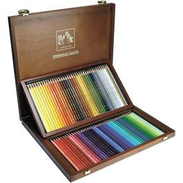 Caran d Ache Wooden Box Of 80 Prismalo Pencils thumbnail