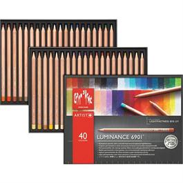 Caran d'Ache Luminance 6901 Set Of 40 Pencils Thumbnail Image 0