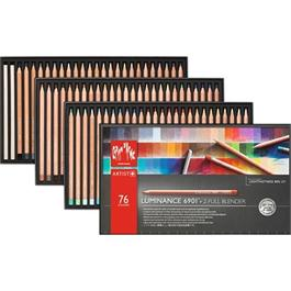 Caran d'Ache Luminance 6901 Set Of 76 Pencils & 2 Blenders thumbnail