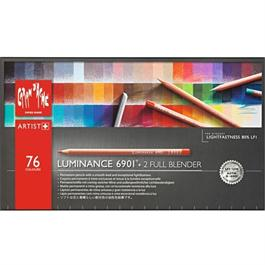 Caran d'Ache Luminance 6901 Set Of 76 Pencils & 2 Blenders Thumbnail Image 1