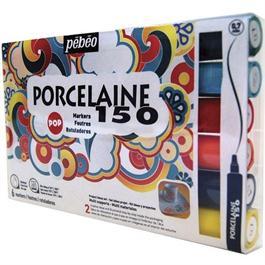 Pebeo Porcelaine 150 Marker Set Of 6 Pop Colours Fine Tip Thumbnail Image 0