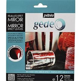 Gedeo Mirror Effect Metal Leaf - RED thumbnail