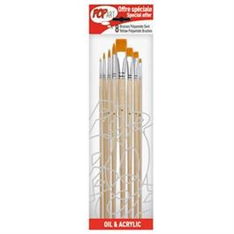 Pebeo Set of 8 Yellow Polyamide Brushes thumbnail
