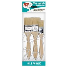 Pebeo Set of 3 White Bristle Spalter Brushes thumbnail
