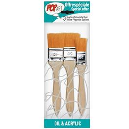 Pebeo Set of 3 Yellow Polyamide Spalter Brushes thumbnail
