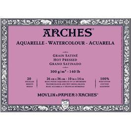 Block 23x31cm Arches Aquarelle 300g Hot Pressed thumbnail