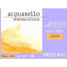 Fabriano Artistico Block 9x12in 140lbs 'NOT' 20 Sheets Extra White thumbnail