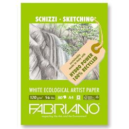 Fabriano Eco Sketch Pad A4 120gsm 80 Sheets thumbnail