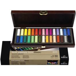Rembrandt 30 Half Pastels Basic Wooden Box Set thumbnail