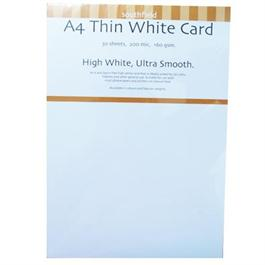 A4 160gsm Thin White Card Pack thumbnail
