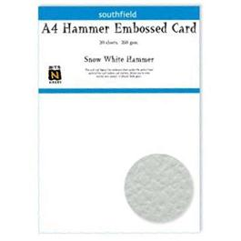 A4 Hammer Embossed Card Pack White 250gsm thumbnail