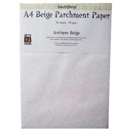 A4 Parchment Paper Antique Beige 25 Sheets 90gsm thumbnail