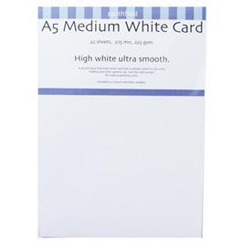 A5 225gsm Medium White Card Pack thumbnail