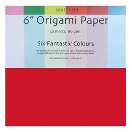 "6"" x 6"" Origami Paper Assorted Colours 30 Sheets thumbnail"