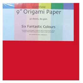 "9"" x 9"" Origami Paper Assorted Colours 30 Sheets thumbnail"