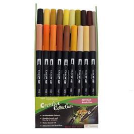 Tombow Dual Brush Pen Set of 18 - Earth thumbnail