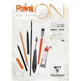 Clairefontaine Paint On Pad 250gsm White Paper A3 thumbnail