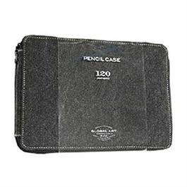 Black Canvas Pencil Case For 120 Pencils thumbnail