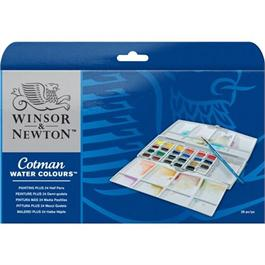 Cotman Painting Plus - 24 Half Pans Thumbnail Image 1