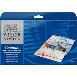 Cotman Painting Plus 12 Tube Set Thumbnail Image 1