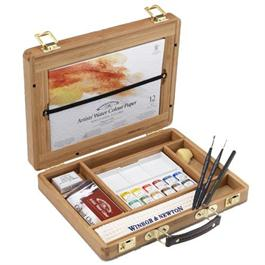 Winsor & Newton Artists' Watercolour Half Pan Bamboo Box thumbnail