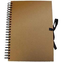 Seawhite A5 Portrait Wire-o Kraft Sketch Book thumbnail