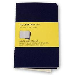 Moleskine Squared Cahier Pocket - Black (Set of 3) Journal Notebook thumbnail