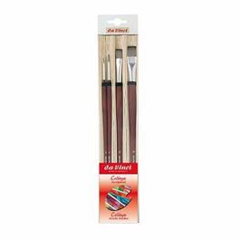 da Vinci College Acrylic Brush Set With Bamboo Mat thumbnail