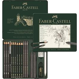 Faber Castell Pitt Graphite Set of 19 items Thumbnail Image 1