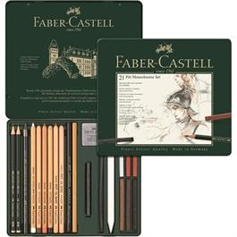 Faber Castell Pitt Monochrome Set of 21 items Thumbnail Image 1