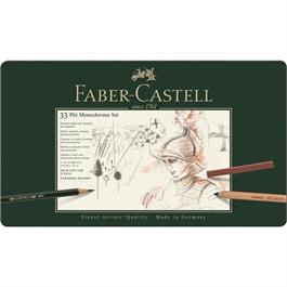 Faber Castell Pitt Monochrome Set of 33 items Thumbnail Image 0