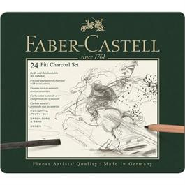 Faber Castell Pitt Charcoal Set of 24 items Thumbnail Image 0